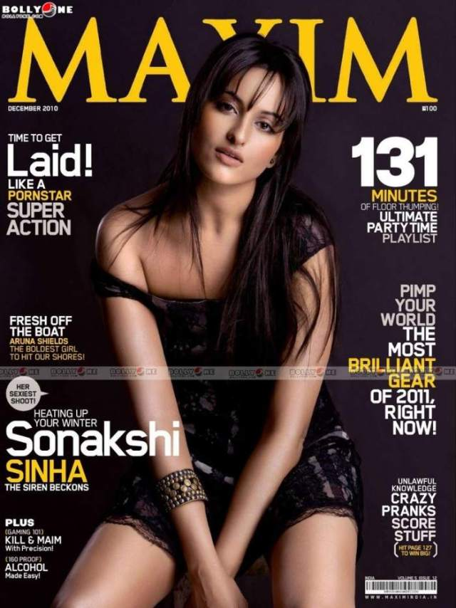 Sonakshi on Maxim cover