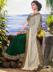 jennifer-winget-enticing-cream-and-green-reception-wear-designer-saree-19558-790x1086