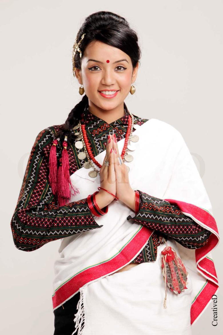 Sadichha in Newari traditional dress
