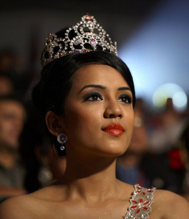 Sadichha Shrestha at Miss Nepal 2011 event