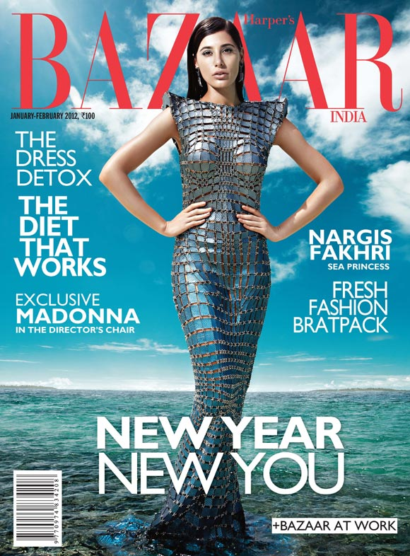 Nargis on Bazaar cover