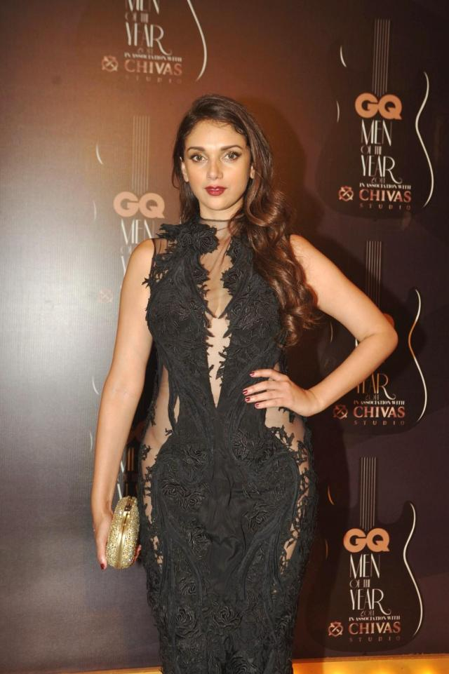 Actor Aditi Rao Hydari during GQ Men Of The Year Awards 2014,  in Mumbai on Sept. 28, 2014. (Photo: IANS)