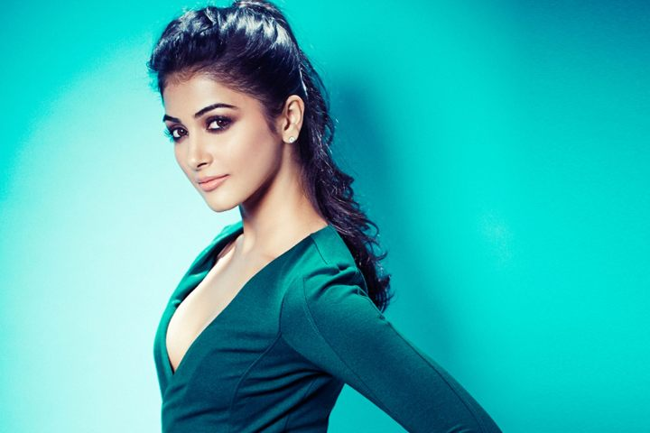 Pooja Hegde in green